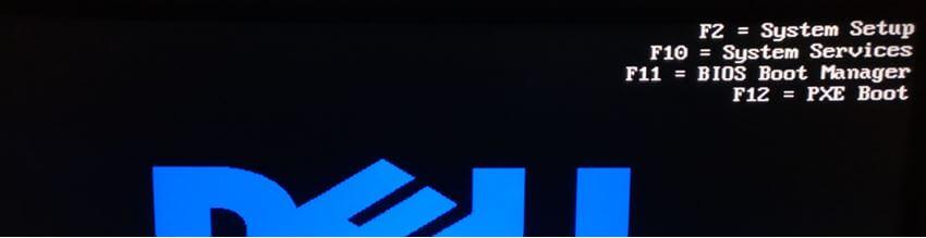 pantalla arranque servidor dell