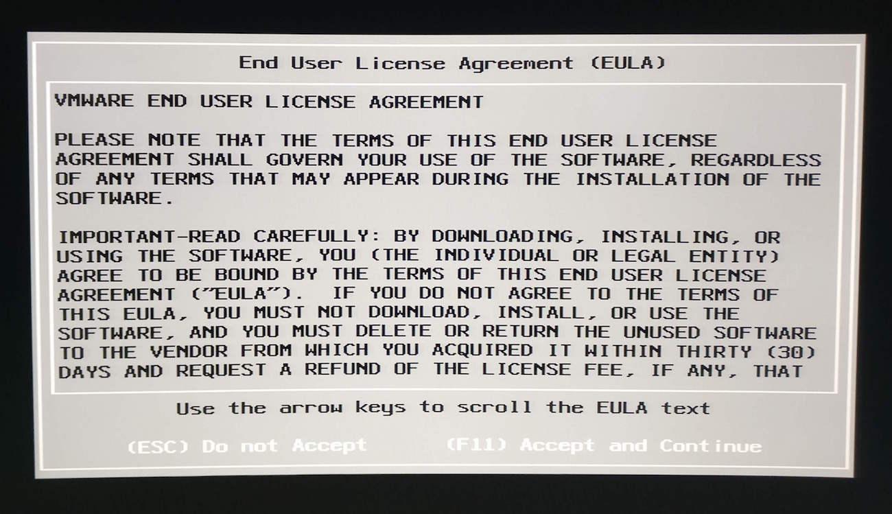 acuerdo usuario final instalacion vmware