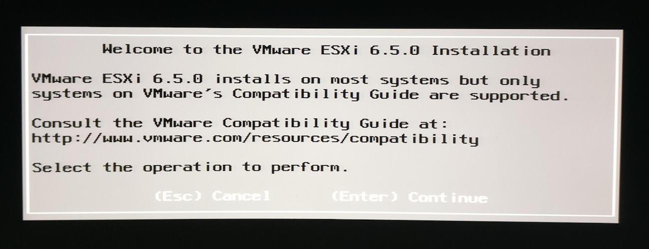 pantalla bienvenida instalacion vmware