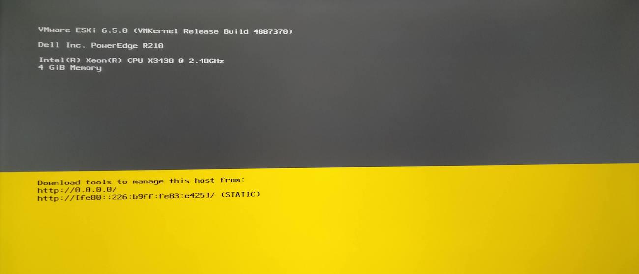 pantalla inicio vmware despues de instalacion