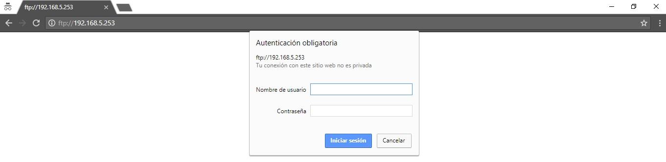 Acceso web VSFTPD