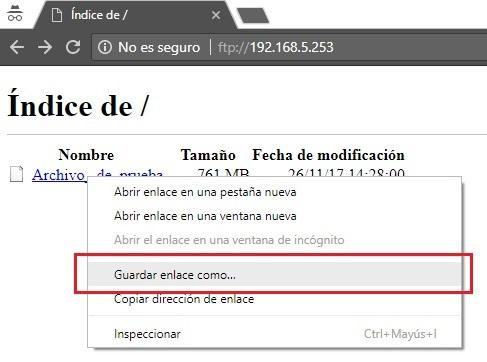 descargar archivo enviado a directorio prueba ftp via web