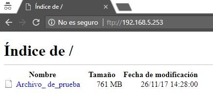 visualizar archivo enviado a directorio prueba ftp via web