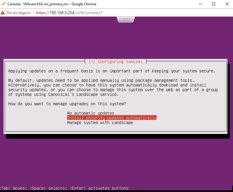 Actualizaciones automáticas Ubuntu Server en VMWare