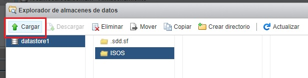 Cargar la ISO en datastore