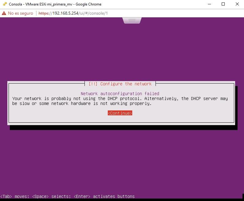 Fallo DHCP en Ubuntu Server en VMWare