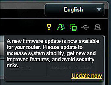 Actualización de router Asus