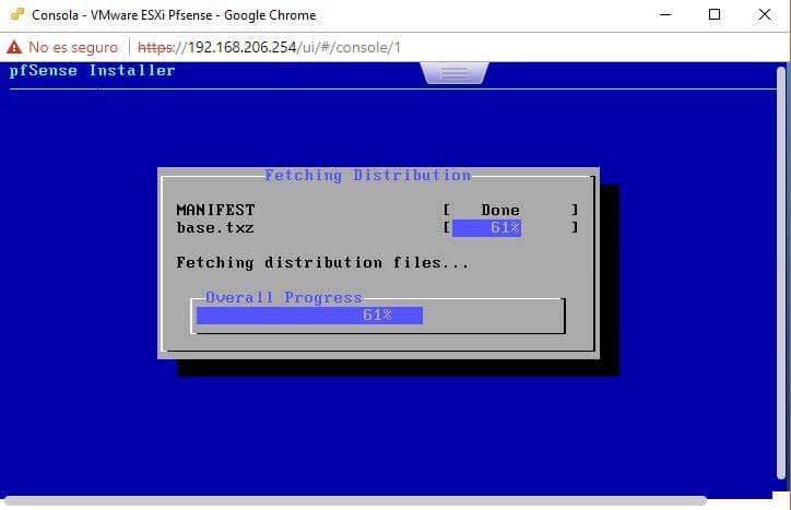 Inicio del proceso de extracción de ficheros