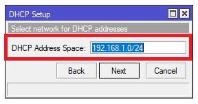 Definir la red para el DHCP