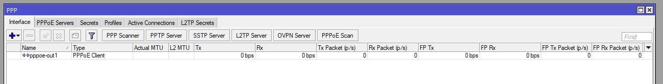 Resumen de configuración para PPPoE