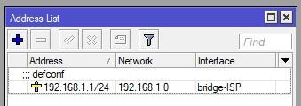 Entrada dirección IP en LAN