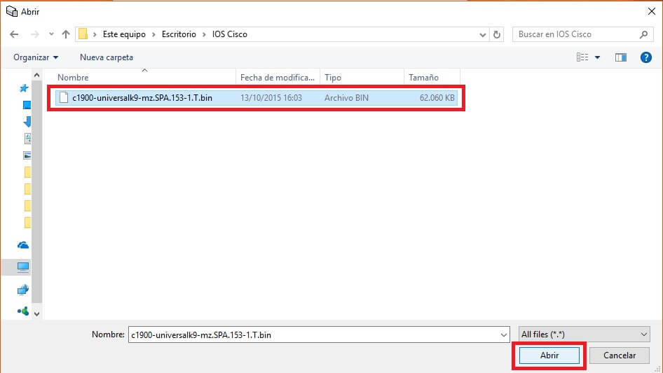 Seleccionar el archivo para el cálculo md5