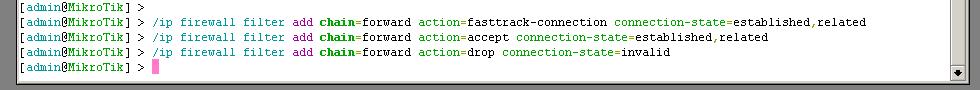 config fast track mikrotik